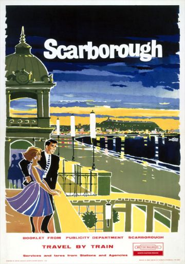 Scarborough Spa, Yorkshire. British Rail Vintage Travel Poster. 1961